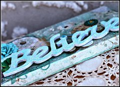 Believe (a canvas) by Rhonda Van Ginkel