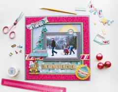 So much fun going on in the Candy Cane Lane Collection from Bo Bunny