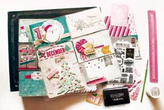 Whimsical Bo Bunny Candy Cane Lane Collection Misc Me Option