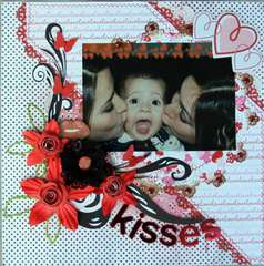 Kisses by Debbie Sherman  using Bo Bunny Crush