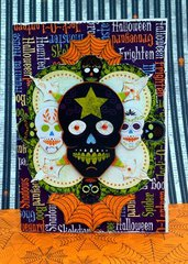 Halloween Skulls card by Agnieszka Bellaidea