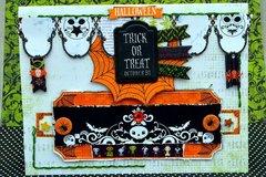 Halloween Trick or Treat card by Agnieszka Bellaidea