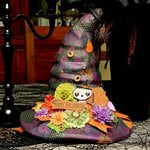 Fright Delight Halloween Witch Hat by Designer Juliana Michaels