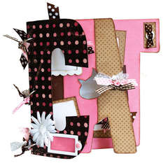 Bo Bunny Cat My Big Fat Chipboard Album