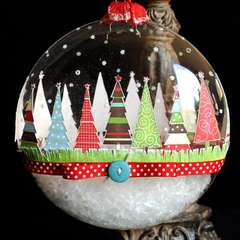 Tis the Season Glass Christmas Ornament