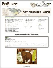 Any Occasion Cards featuring the Trail Mix Collection from Bo Bunny