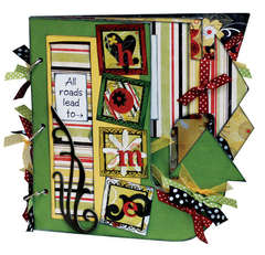 Bo Bunny My Word Arrow My Big Fat Chipboard Album