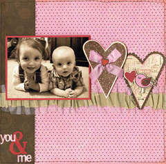 You & Me using Crazy Love from Bo Bunny