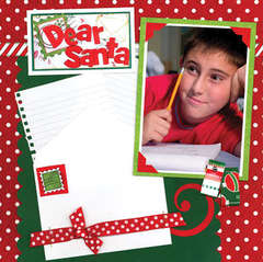 Dear Santa Holiday Magic Layout