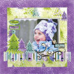 Wonder Happiness Peace using Winter Joy from Bo Bunny