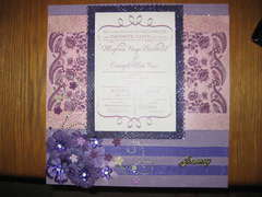 Purple Themed Wedding Invitation Layout
