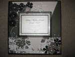 Black and White Themed Wedding Invitation Layout