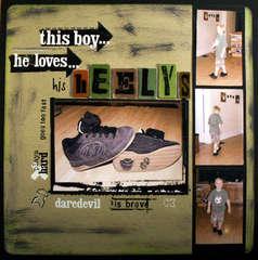 Loves his Heelys