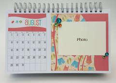 Desktop Flip Calendar - August