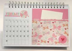 Desktop Flip Calendar - February