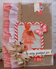 So very Grateful For You Shabby Chic Card
