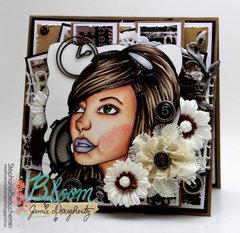 Bloom Girl Emily card