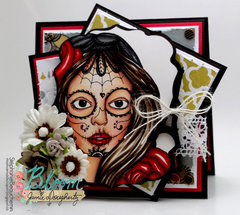 Bloom Girl - Catrina card