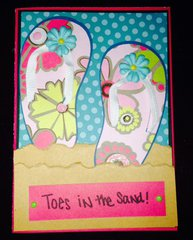Toes in The Sand card