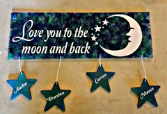Moon and Back Sign