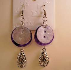 Acrylic Button Earrings