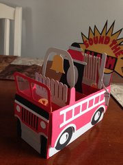 Firetruck Box Card