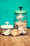 Seaside Mason Jars.  This project was created and photographed by the ever-so-talented Mallory Francks, a photographer in Salt L