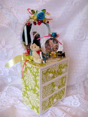 Lime Green Jewelry Box/Dresser