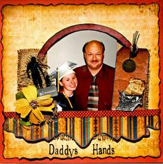 Daddys Hands made with Swirlydoos Antiquities Kit