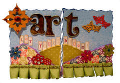 Art Bloom ATC by Robin Gibson