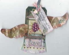 Winged Love Tag ATC