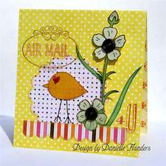 Air Mail card *Pink Paislee*