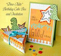 Dino-Mite Cake Box and Invitation