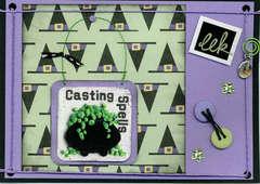 Casting Spells Halloween Card