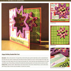 Happy Birthday Beaded Mini Card