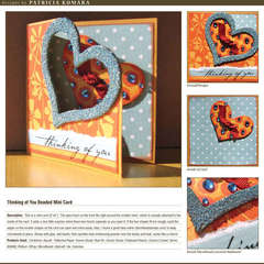 Thinking of You Beaded Mini Card