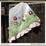 Flower Garden Canvas Apron