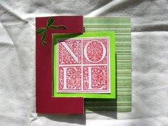 Noel Striped Christmas Card Flip Card