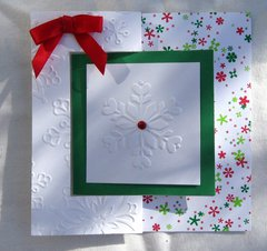 Snowflake Christmas Flip Card