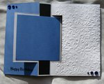 Blue Roses Birthday Flip Card Inside... unfinished