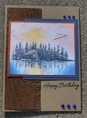 Cabin Scenery Card