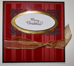 Scarlet, Black, Gold and White Card
