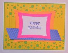 Bright Happy B-Day Card