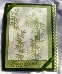 Green Asian Happy Birthday Card