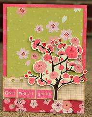 get well soon cherry blossom card