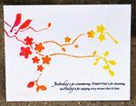 ombre branch card