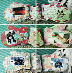 Crate Paper winter mini album by Lexi Bridges