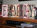 Family Chipboard Letters