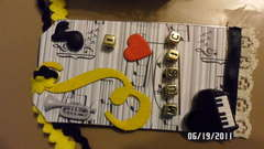 music - altered matchbox tag