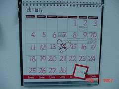 A Year to Remember BPS class February Calender